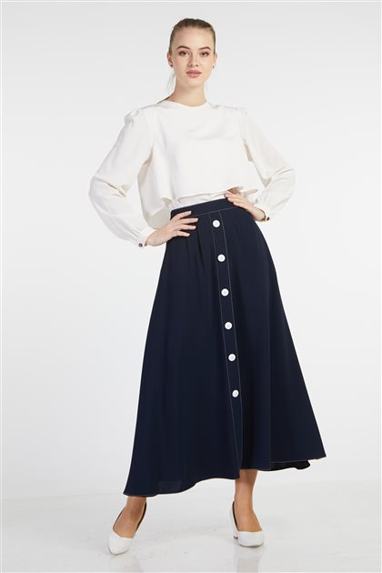 Skirt-Navy Blue TK-Z7601-08