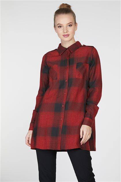 قميص-بوردو TK-Z7907-30