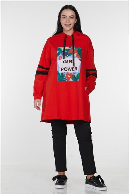Sweatshirt-Kırmızı 19Y-MM21.0130-34