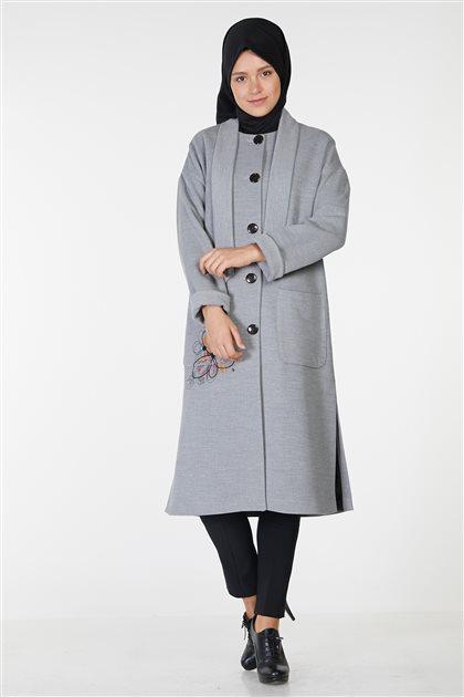 جاكيت طويل-رمادي KA-A8-17077-07