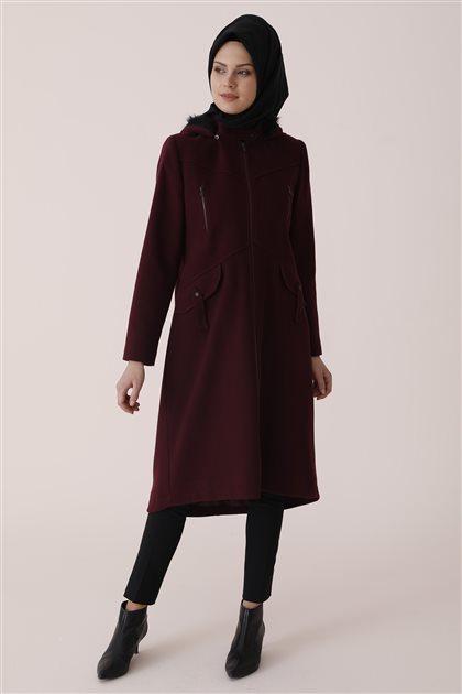 Short Outerwear-Plum U4157-10