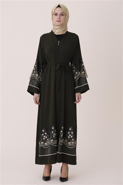 Abaya-Khaki 7755-27