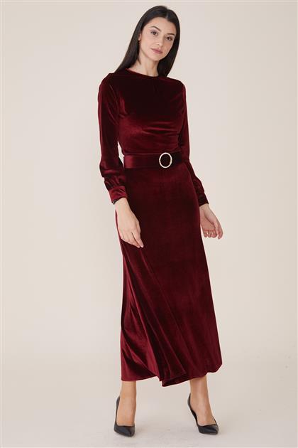 Velvet Dress-Claret Red UAH-9W3470-67