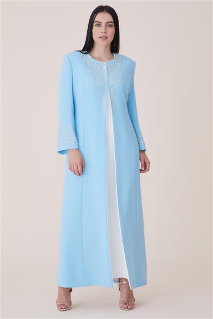 Elbiseli Kaftan-Açık Mavi 19K165-15