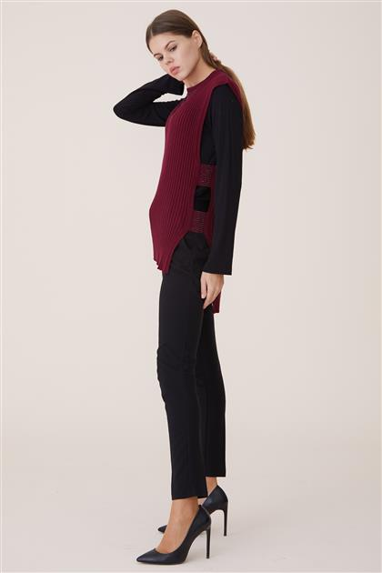 Blouse-Claret Red 8028-67