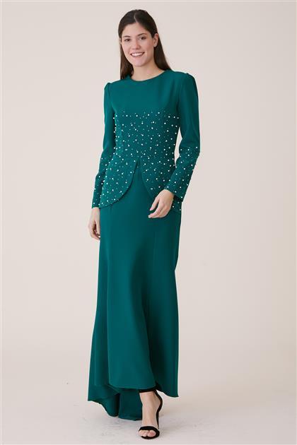 Abiye Elbise-Yeşil 3009-21