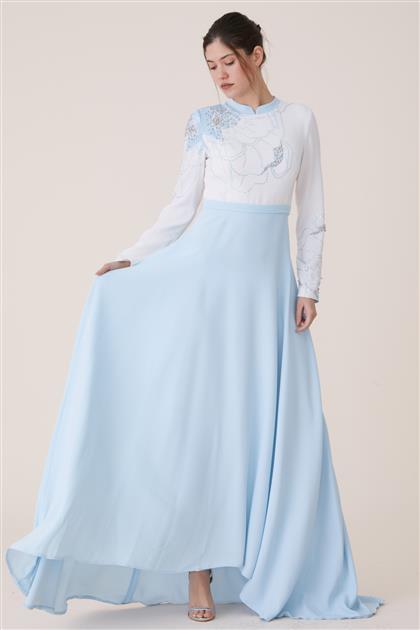 Dijital Baskılı Elbise-Mavi 19Y8223-70