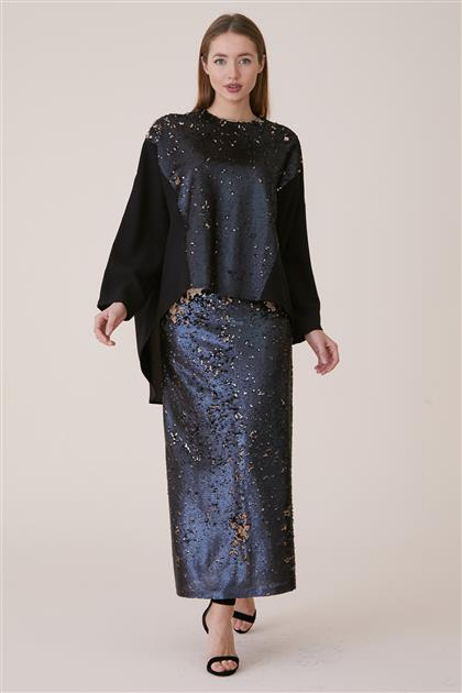 Tunic Suit-Black 19Y120-01