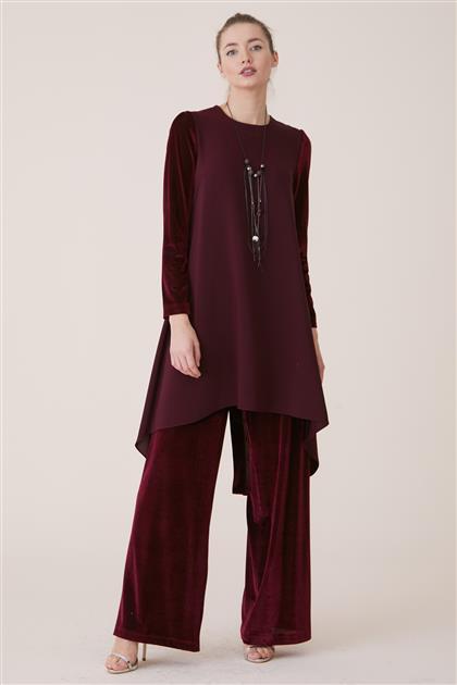 Tunic Suit-Claret Red 18K2721-67