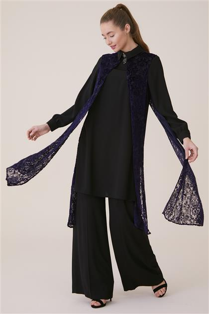 Kyr Suit-Black-Purple KY-A8-76007-1224