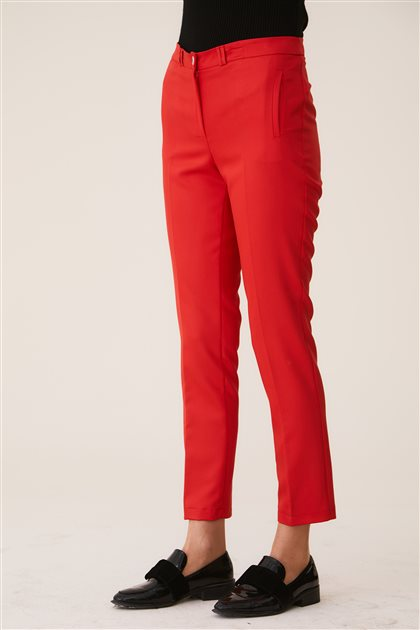 Belli Pantolon-Kırmızı 9YB2749-34