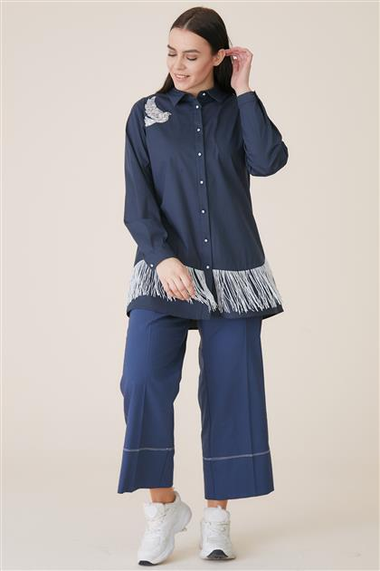 Tunic-Navy Blue KA-A9-21186-11