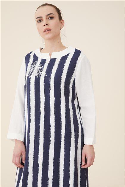 Çizgili Elbise-Orijinal 5801-151