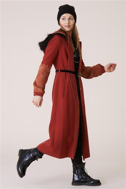 Doque جاكيت طويل-أحمر قرميدي ar-DO-A8-57015-67