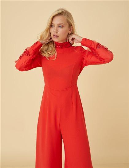 Elbise-Kırmızı- Kayra-KA-B9-22016-19
