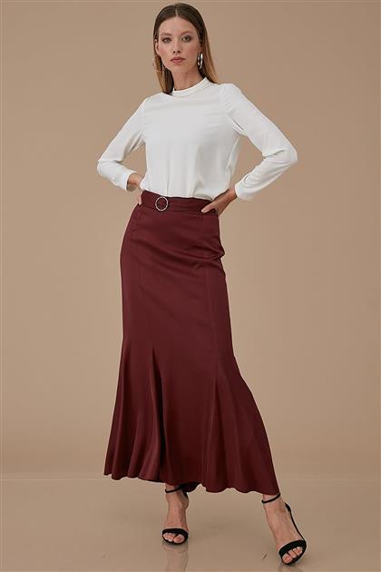 Skirt-Claret Red KA-A9-12042-26