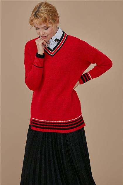 Knitwear-Red KA-A9-TRK10-19