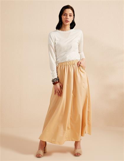 Skirt-Beige KY-B20-72005-08