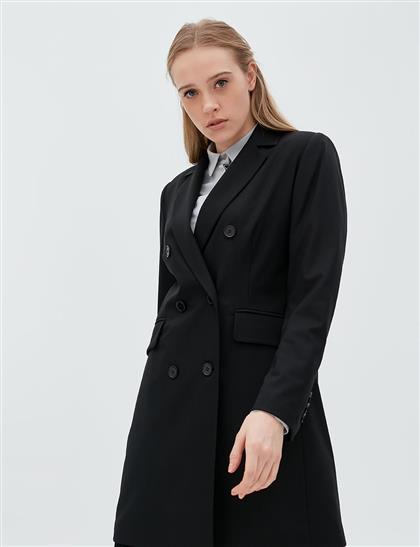 Basic Blazer Ceket Siyah SZ 13501