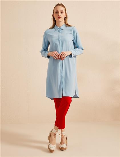 Basic Patı Gizli Tunik Mavi SZ 21506