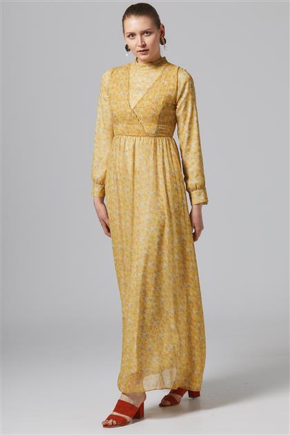 Elbise-Sarı-TK-U5722-28