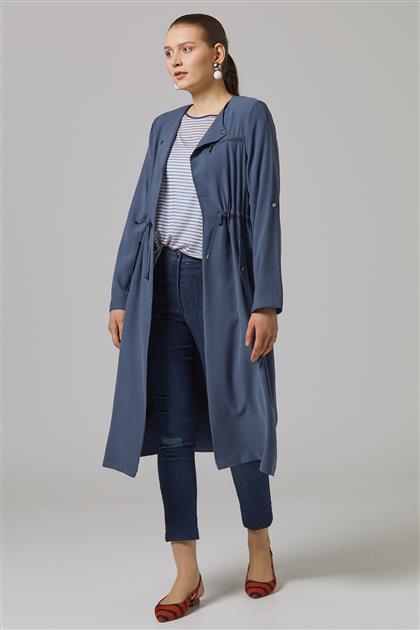 Yaka Broşlu Giy-Çık-İndigo TK-U6809-7