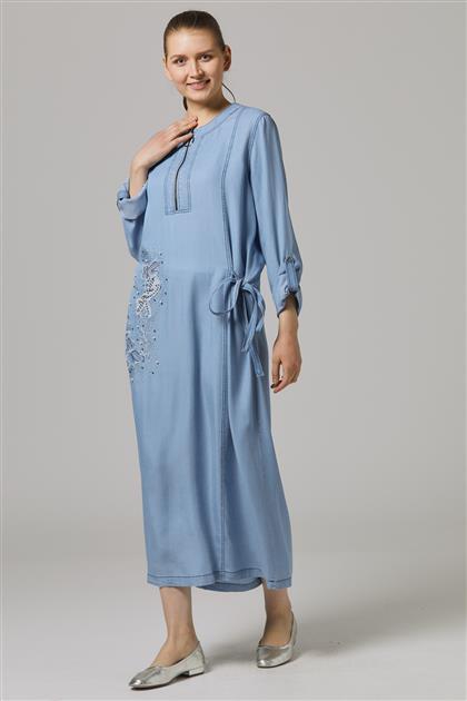 Elbise-Lacivert 7803-17