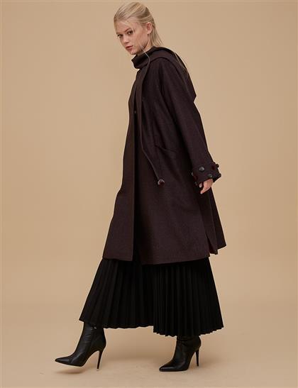 Shawl Coat Claret Red A9 17014