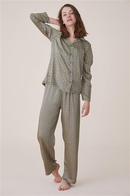 Pajama Set-Green 1023-21