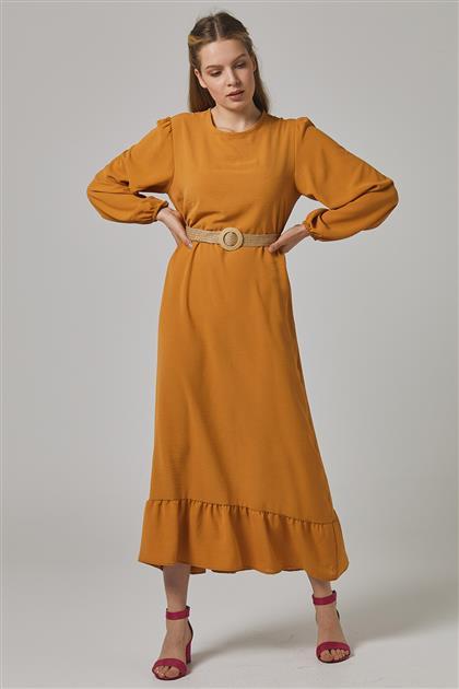 فستان خردل-2698F-55