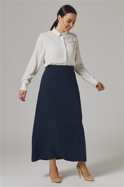 Skirt-Navy Blue 778-17