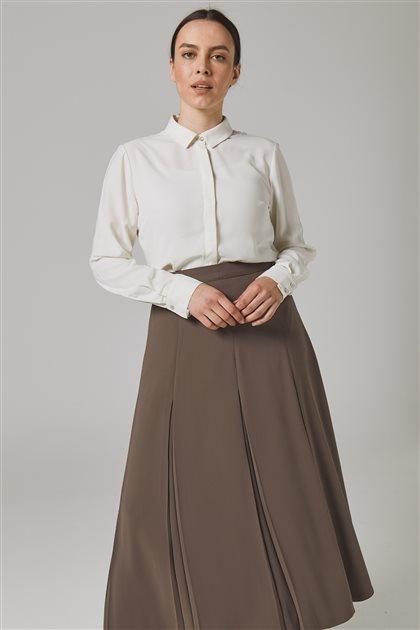 Big Size Skirt-Brown 776S-08
