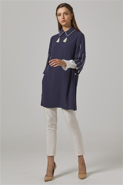 Tunic-Navy Blue KA-B20-21183-11