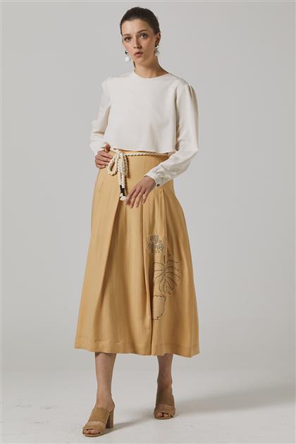 Skirt-Beige KA-B20-12039-08