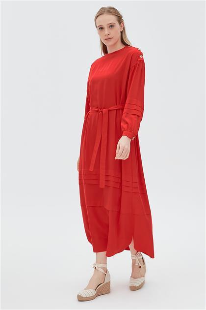 Elbise-Kırmızı KA-B20-23006-19