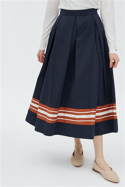 Skirt-Navy Blue KA-B20-12026-11