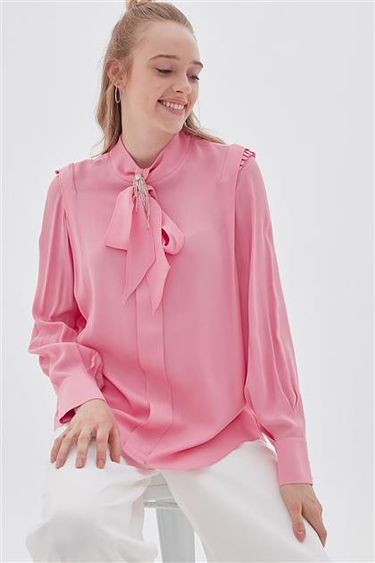Blouse-Pink KA-B20-10094-17