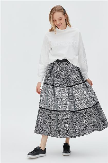 Skirt-Black KA-B20-12009-12