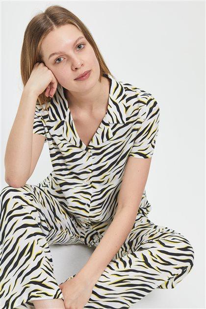 Pajama Set-White 1029-02