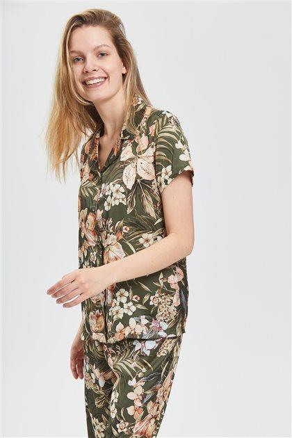 Pajama Set-Green 1027-21
