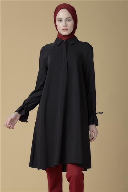Armine Bağcık Detaylı Tunik Siyah 9K4835