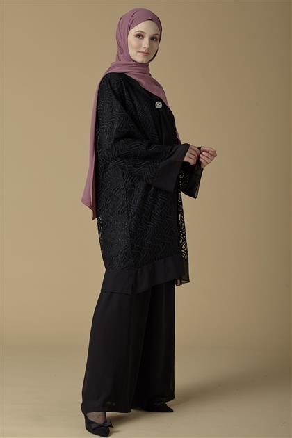 Armine Bol Paça Pantolon Siyah 9K4305