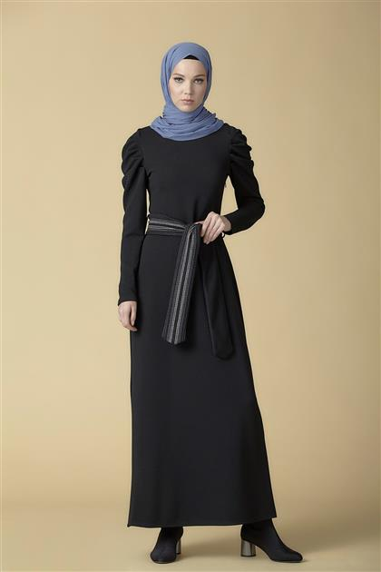 Armine Kemer Detaylı Elbise Siyah 9K9816