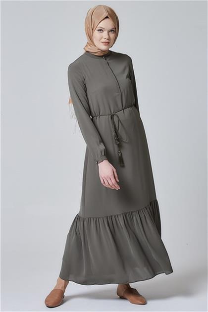 Armine Büzgülü Elbise Yeşil 20Y9114