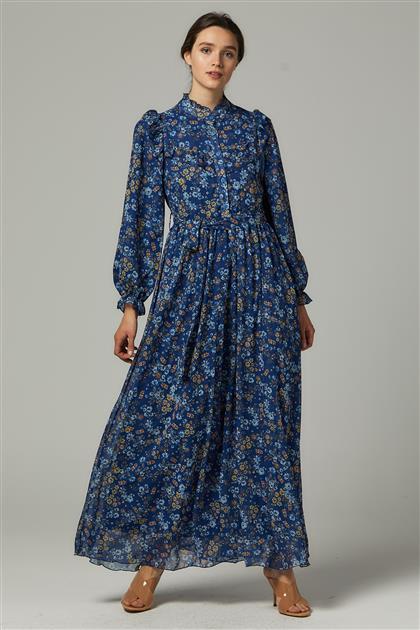Elbise-Mavi 1605-70