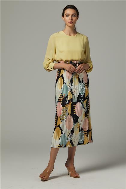 Skirt-Mustard MS255-50