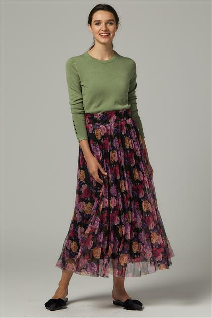 Skirt-Plum MS278-29