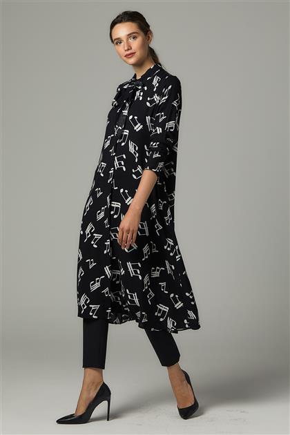 Tunic-Black-Note Pattern 2097DF-01-159