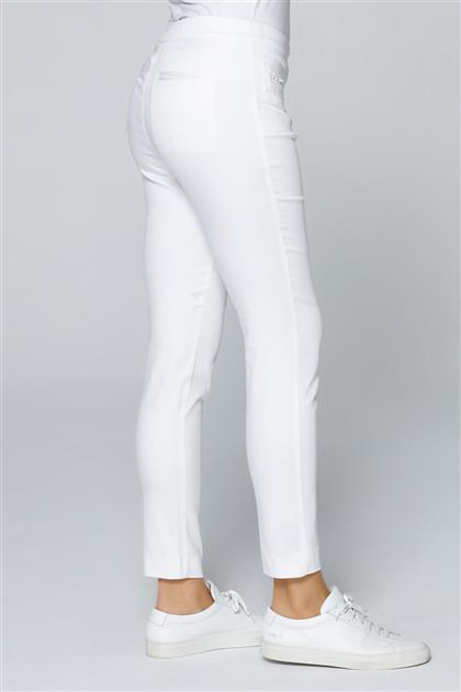 Armine Cepli Pantolon Beyaz 9Y2786