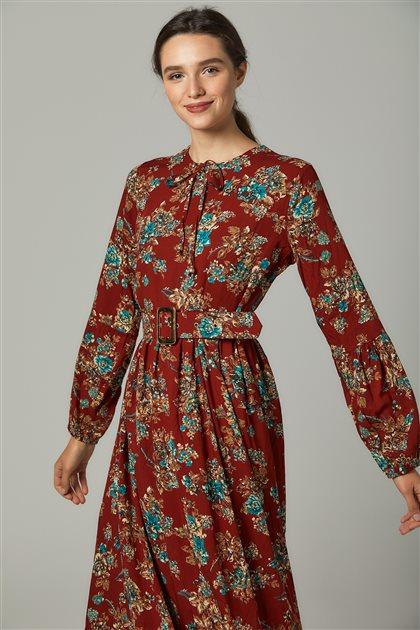 فستان-أحمر قرميدي US-0S5050-58